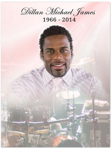 Drums In Loving Memory Memorial Portrait Poster