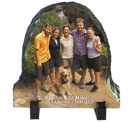 Bell Shape Slate Stone Memorial Plaques with Stand