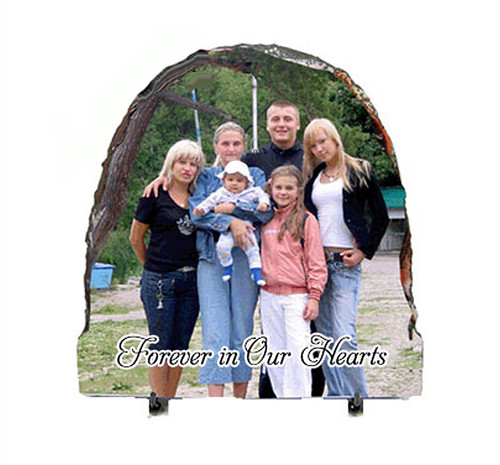 Half Oval Slate Stone Memorial Plaques with Stand