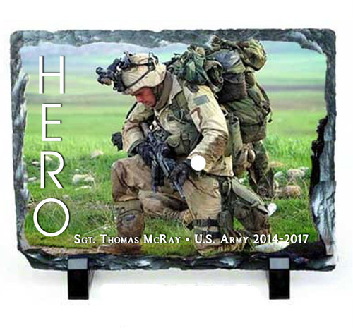 Small Rectangle Memorial Slate Stone Plaques with Stand