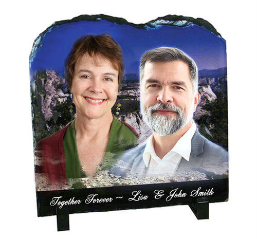 Tablet Shape Memorial Slate Stone Plaques with Stand