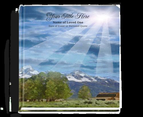 outdoor funeral guest book