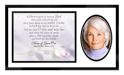Beloved In Loving Memory Memorial Plaque Frame Keepsake