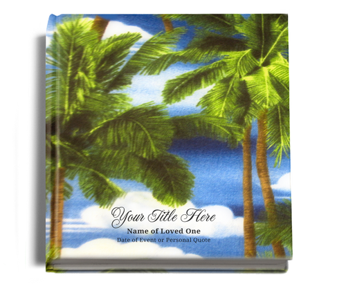 paradise funeral guest book