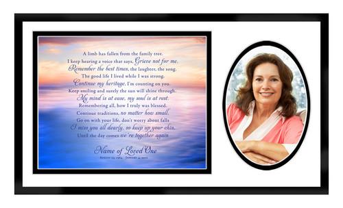 Dusk In Loving Memory Memorial Plaque Frame Keepsake