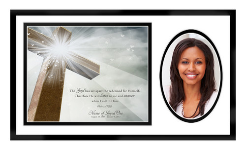 Eternal In Loving Memory Memorial Plaque Frame Keepsake