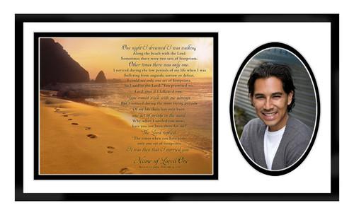 Footprints In Loving Memory Memorial Frame Plaque Keepsake