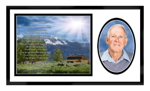 Outdoor In Loving Memory Memorial Frame Plaque Keepsake