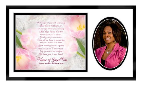 Pearls In Loving Memory Memorial Frame Plaque Keepsake
