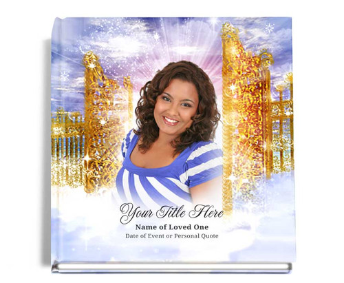 pathway funeral guest book with photo