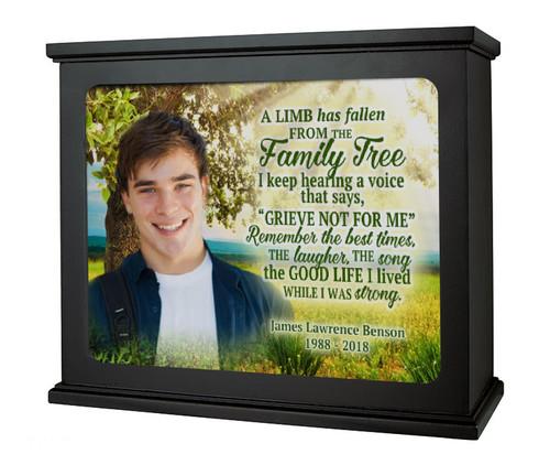 Family Tree In Loving Memory Memorial Photo Light Box light off
