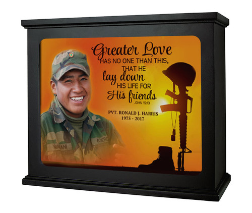 His Friends In Loving Memory Memorial Photo Light Box