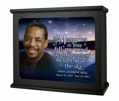 Starry Night In Loving Memory Photo Light Box Memorial