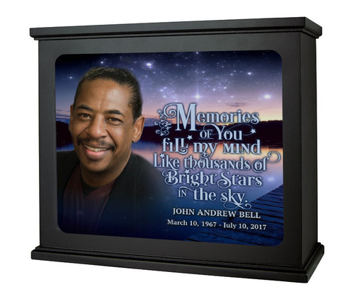 Starry Night In Loving Memory Photo Light Box Memorial