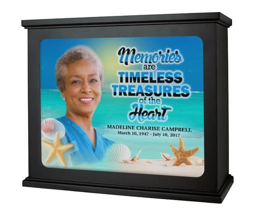 Tropical Beach Photo Light Box Memorial