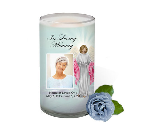 Angelina Memorial Glass Candle 3x6