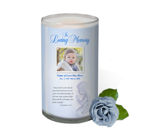 Angelo Memorial Glass Candle 3x6