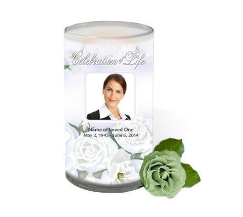 Awakening Memorial Glass Candle 3x6