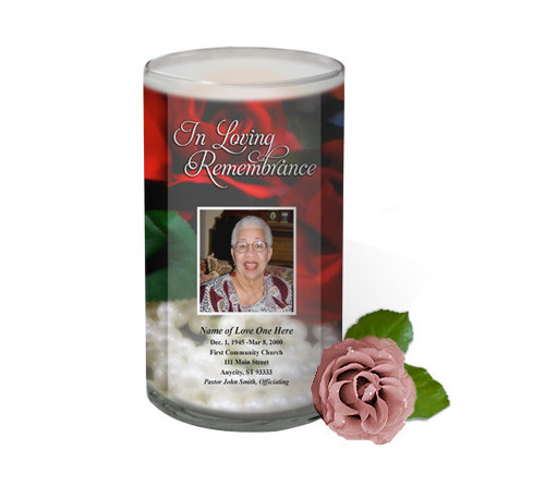 Elegance Memorial Glass Candle 3x6