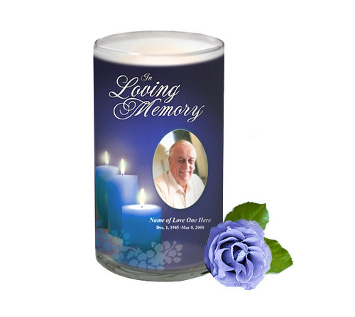 Enlighten Memorial Glass Candle 3x6
