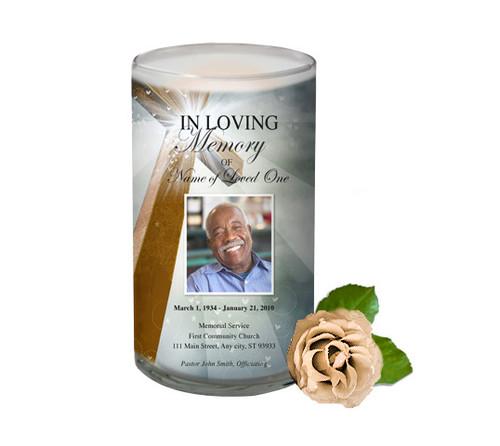 Eternal Memorial Glass Candle 3x6