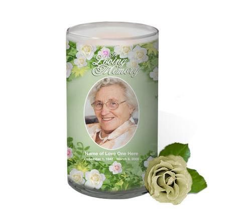 Garden Memorial Glass Candle 3x6