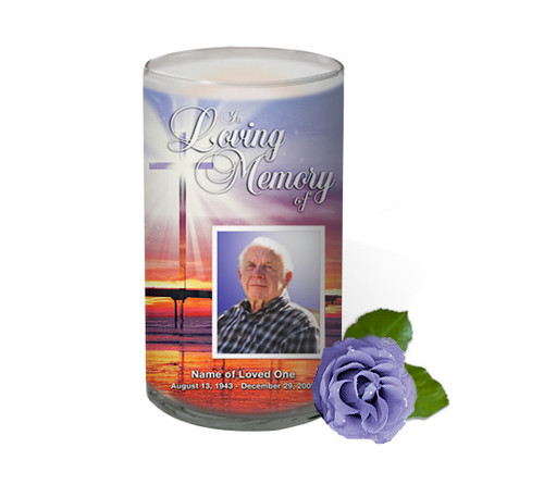 Glorify Memorial Glass Candle 3x6