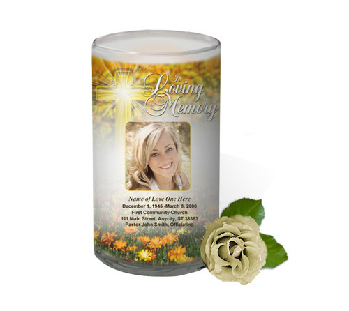Hope Memorial Glass Candle 3x6