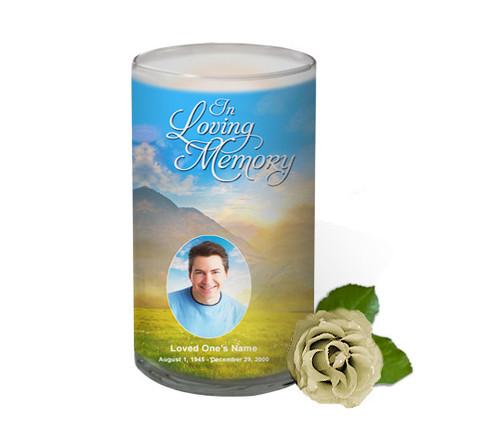 Horizon Memorial Glass Candle 3x6