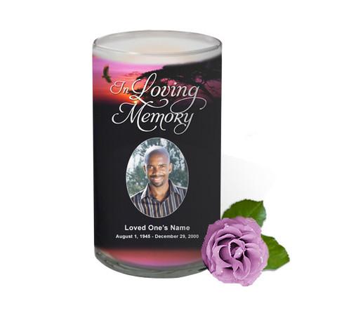 Imagine Memorial Glass Candle 3x6