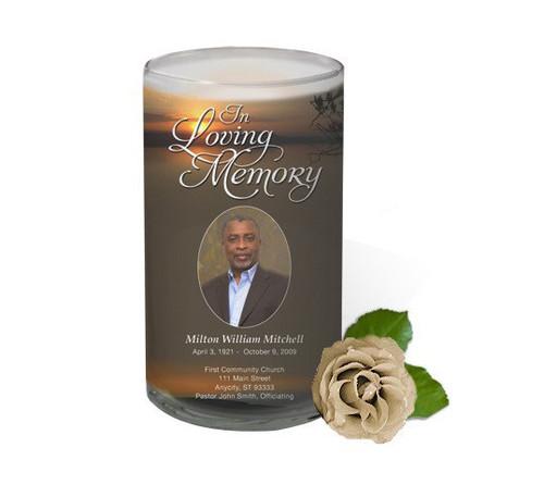 Kenya Memorial Glass Candle 3x6