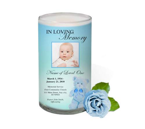 NurseryBoy Memorial Glass Candle 3x6