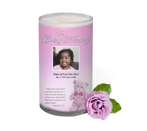 NurseryGirl Memorial Glass Candle 3x6