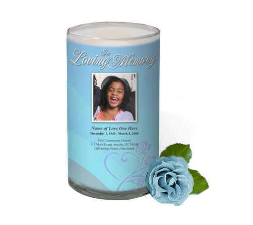 Princess Memorial Glass Candle 3x6