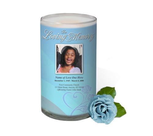 Princess Memorial Glass Candle 3x6