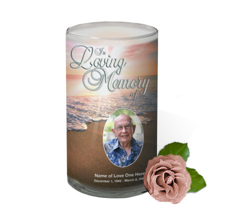 Radiance Memorial Glass Candle 3x6