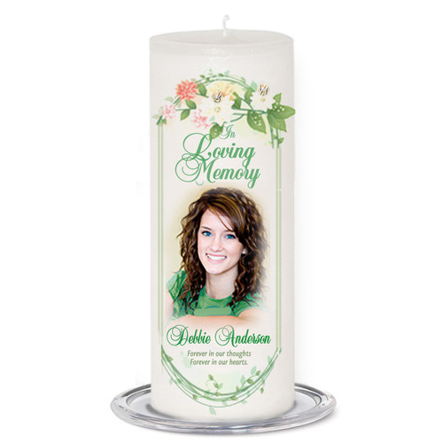 Ambrosia Memorial Wax Pillar Candles