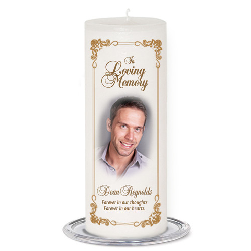 Chestnut Memorial Wax Pillar Candles
