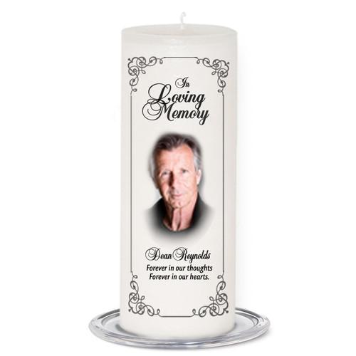 Signature Memorial Wax Pillar Candles