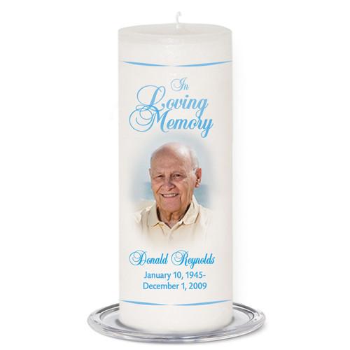 Simple Memorial Wax Pillar Memory Candle