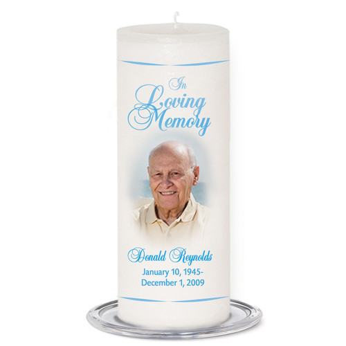 Simple Memorial Wax Pillar Memory Candle