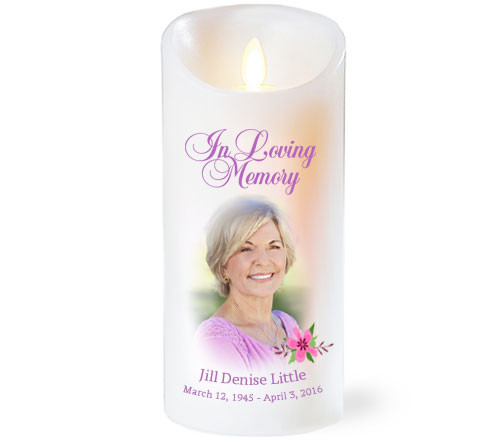 Accent Dancing Wick Memorial LED Candles
