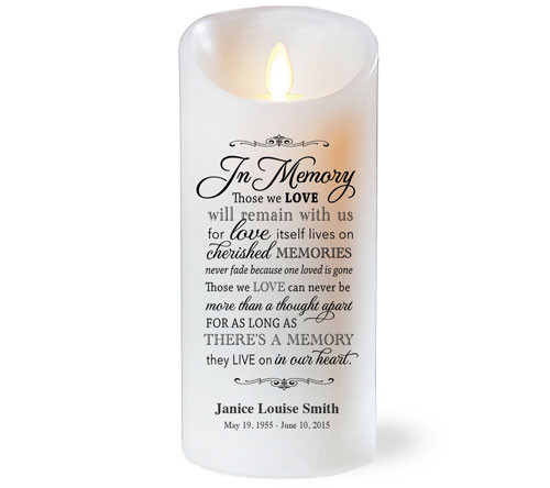 In Memory Dancing Wick Memorial LED Candles