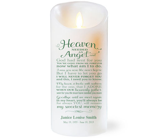 Needed An Angel Dancing Wick Memorial LED Candles
