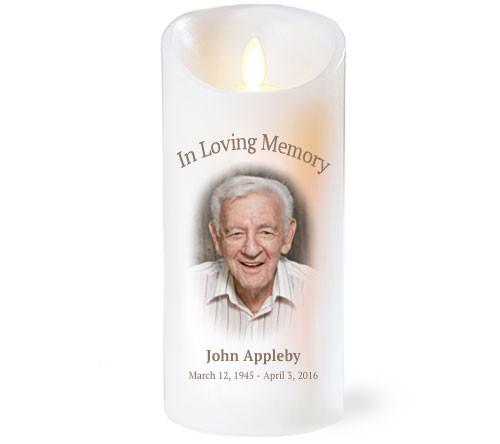 Simple With Photo Dancing Wick Memorial LED Candles