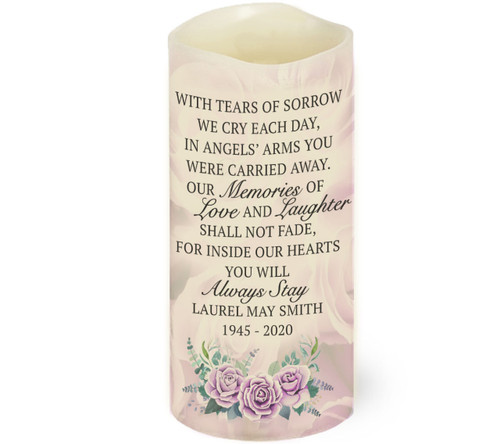 Tears of Sorrow LED Memorial Candle