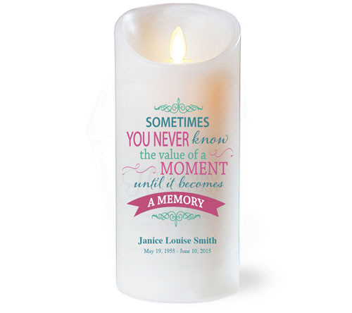 The Value Dancing Wick Memorial LED Candles