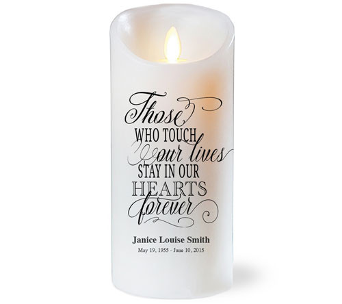 Those Lives Dancing Wick Memorial LED Candles