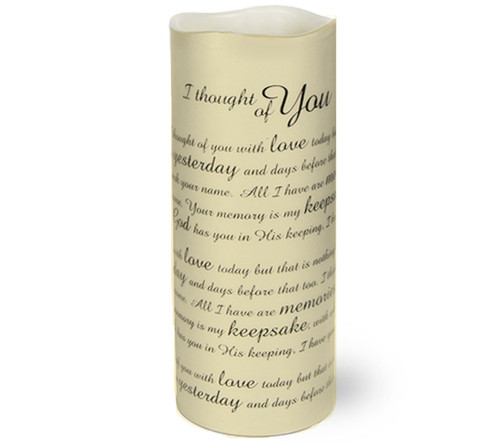 Thought of You Dancing Wick Memorial LED Candles