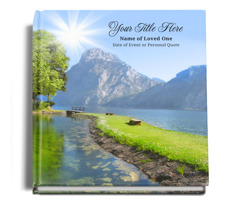 reflections funeral guest book